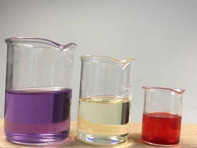 Setje van 3 pyrex glazen bekers